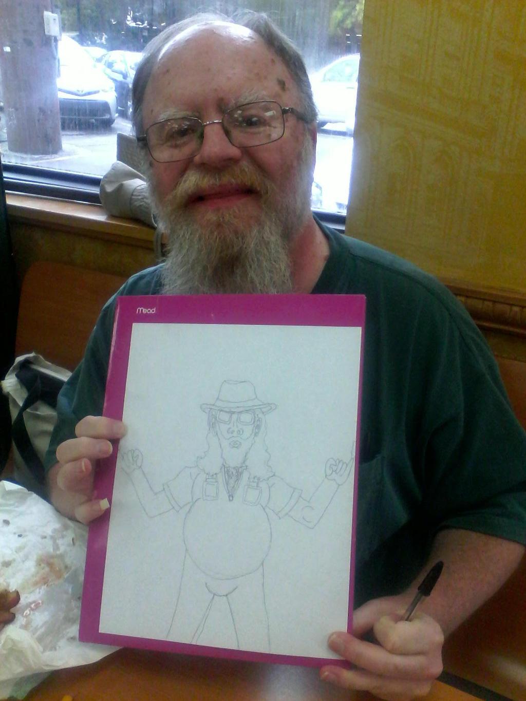David with Dastardly Disruptor Sketch, at Subway by gytalf2000