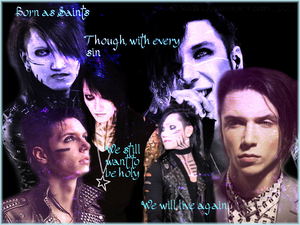 Wallpaper Ashley Purdy And Andy Biersack By Rosshi
