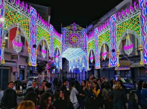 Crowd and lights