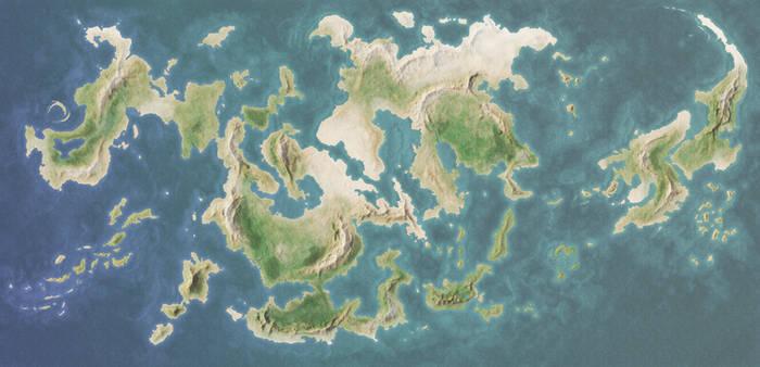 Fantasy World Map 01