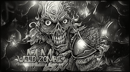 Weed Zombie BW by MMFERRA