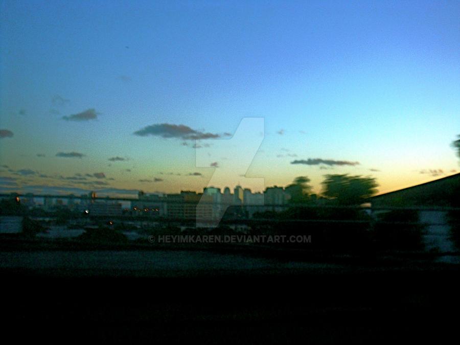 panorama sunset by heyimkaren