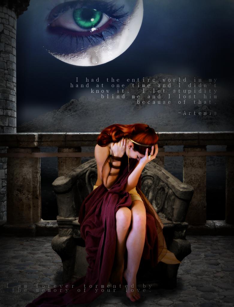 Brokenhearted Artemis by yanxxx