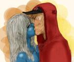 Vanessa and Wade Kiss