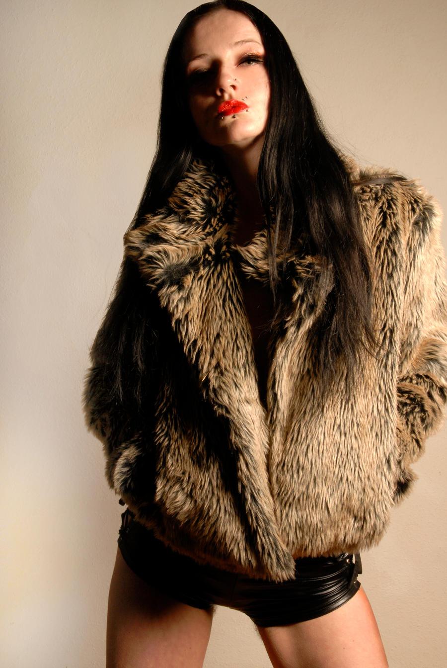 Lady in a fur coat III by Teufelin on DeviantArt