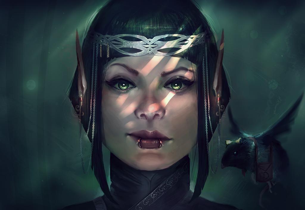 Nikki Elf Portrait by Corey-H