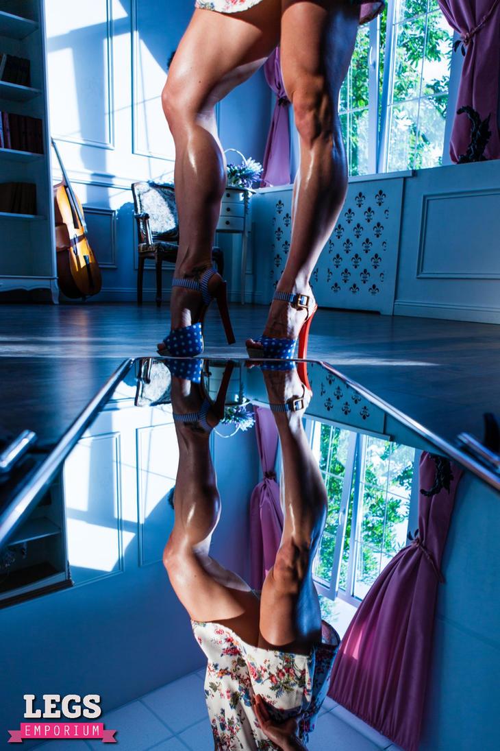 LegsEmporium Newest Model and the Mirror by LegsEmporium
