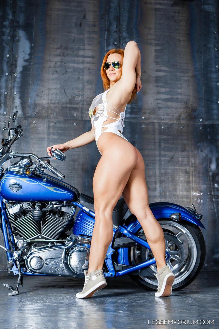 Sexy Biker Bodybuilder - Alena - Legs Emporium By -9608