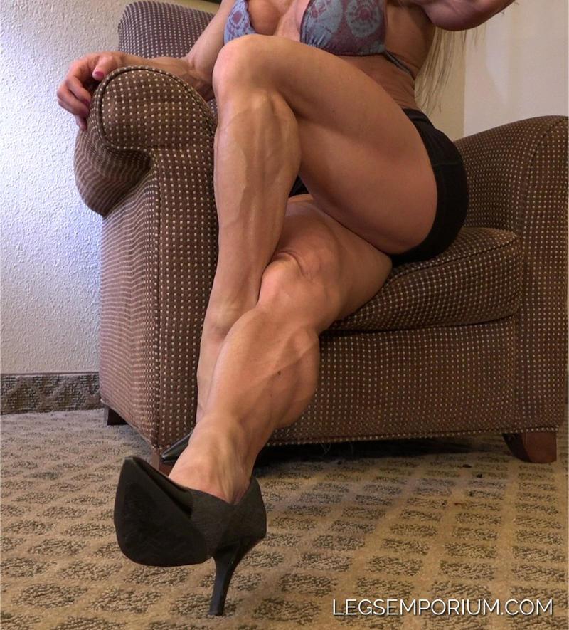 Serrated Crossed Legs with Shannon - Legs Emporium by LegsEmporium