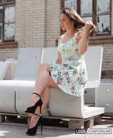 Thick Crossed Legs Beauty - Alina - Legs Emporium by LegsEmporium