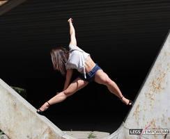 Alina in the Flying V Pillars - Legs Emporium by LegsEmporium