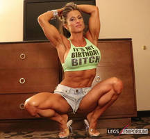 IFBB Beauty with the Chiseled Legs - Maria Garcia by LegsEmporium