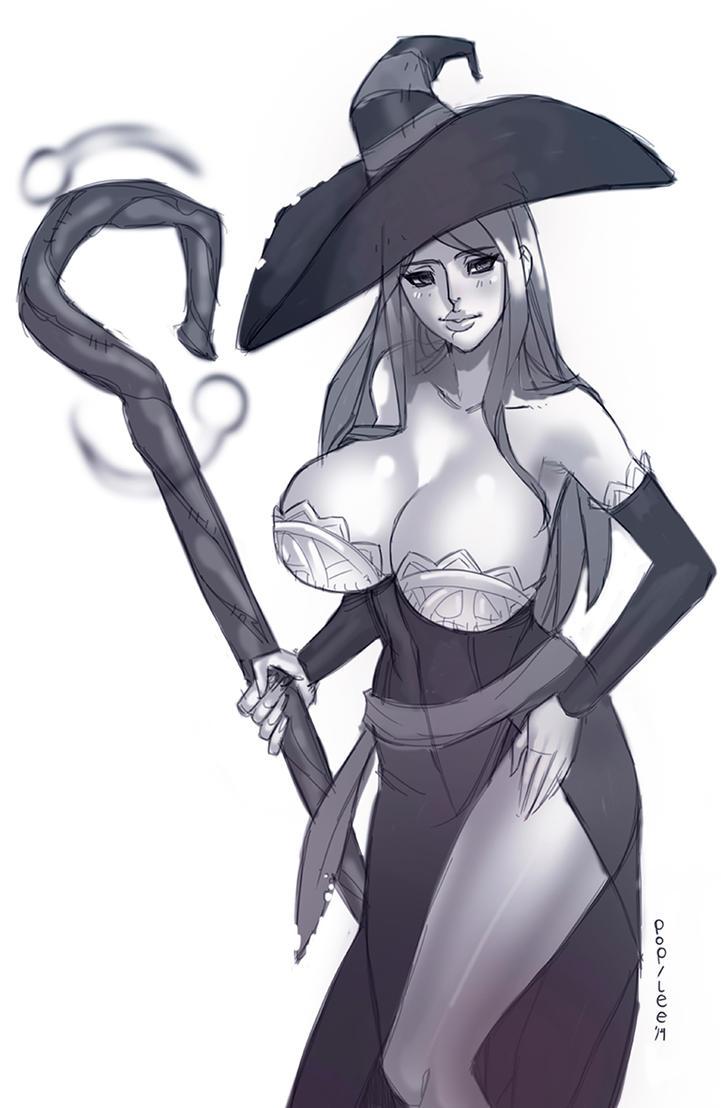 Sorceress Sketch by pop-lee