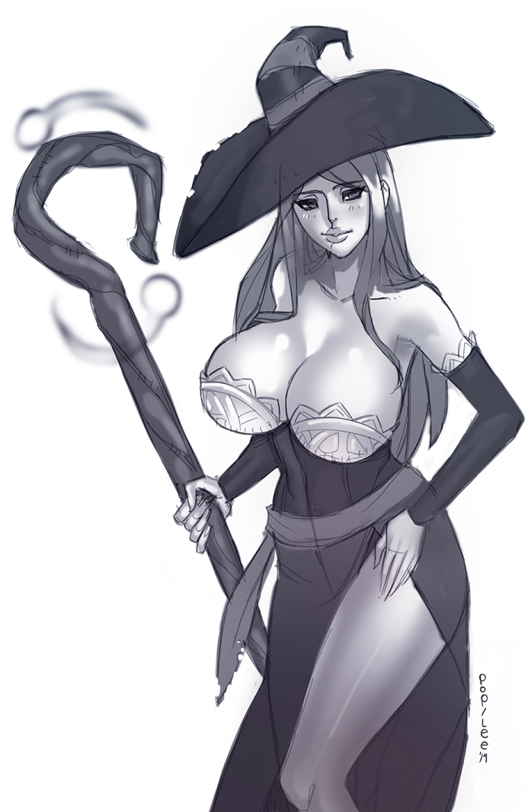 Sorceress Sketch by pop-lee