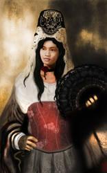 Tita - wearing a mantilla by IxthArcana