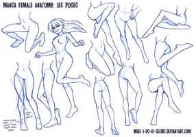 Manga Female Leg Poses
