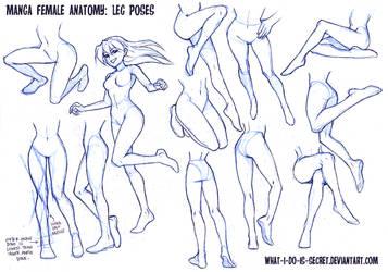 Manga Female Leg Poses by what-i-do-is-secret
