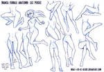 Manga Female Leg Poses