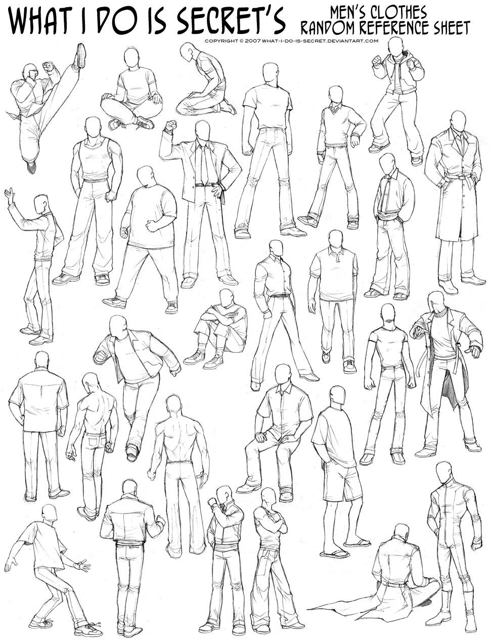 Рисование позы человека 1 фотография