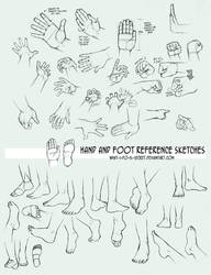 Multireference: Hands and Feet by what-i-do-is-secret
