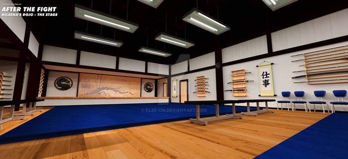 The Dojo: A view of the stage.