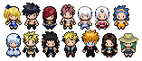 Fairy Tail Sprites by AquaLeonhart