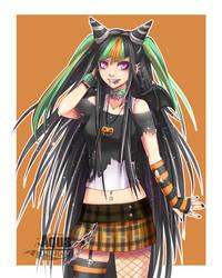 [Danganronpa] Halloween Ibuki by AquaLeonhart
