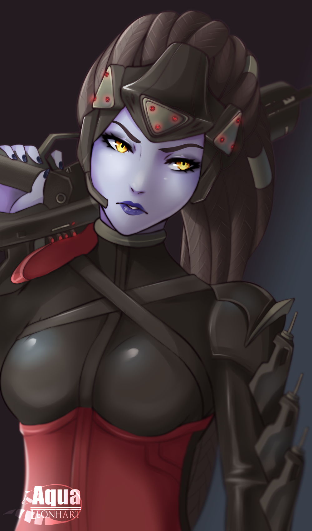 [Overwatch] Widowmaker by AquaLeonhart on DeviantArt