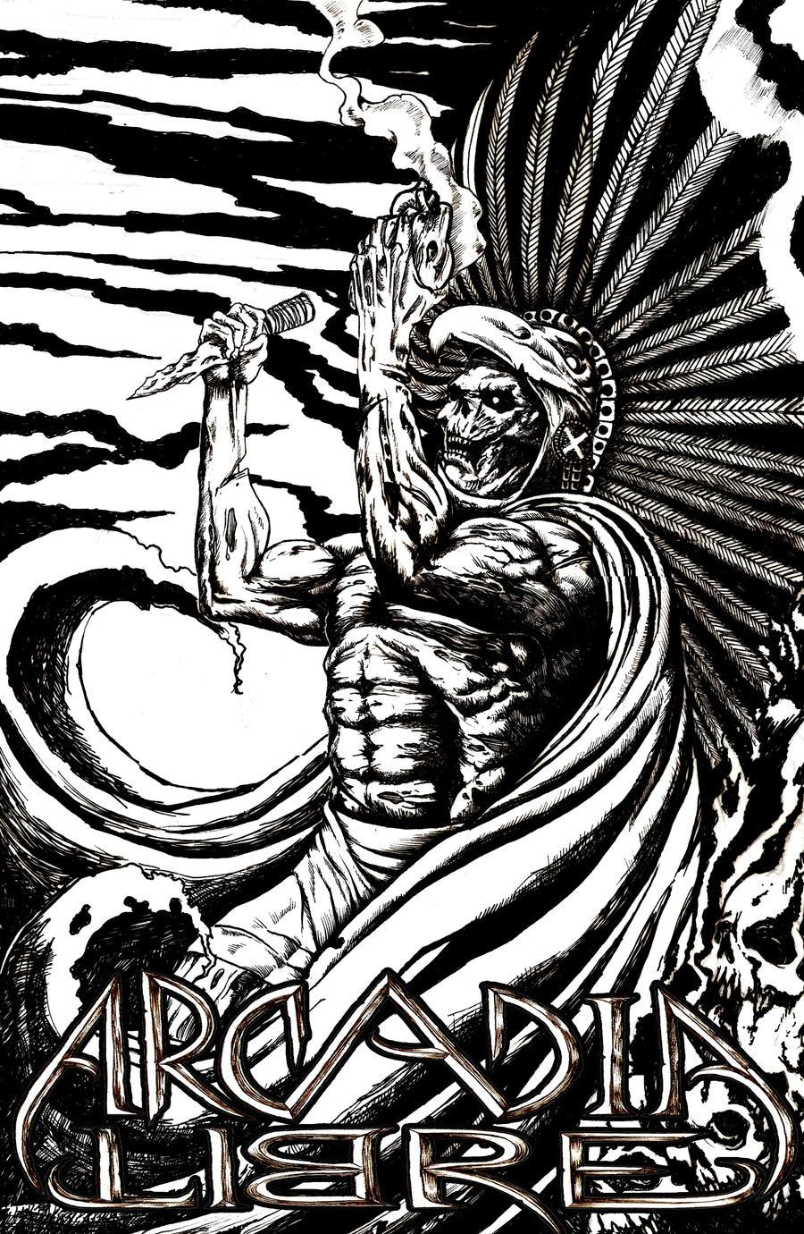 AZTEC WARRIOR by olowones on DeviantArt  Aztec Pencil Drawings
