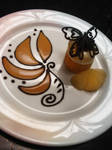 Plated Pear Caramel Mousse by Sliceofcake
