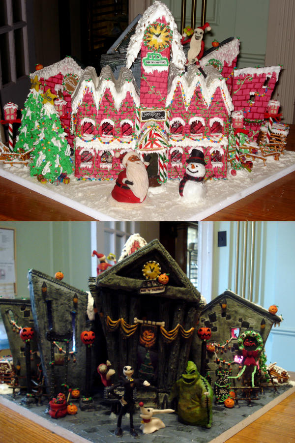 Nightmare Before Christmas Houses.Ghoulishly Great Nightmare Before Christmas Cakes
