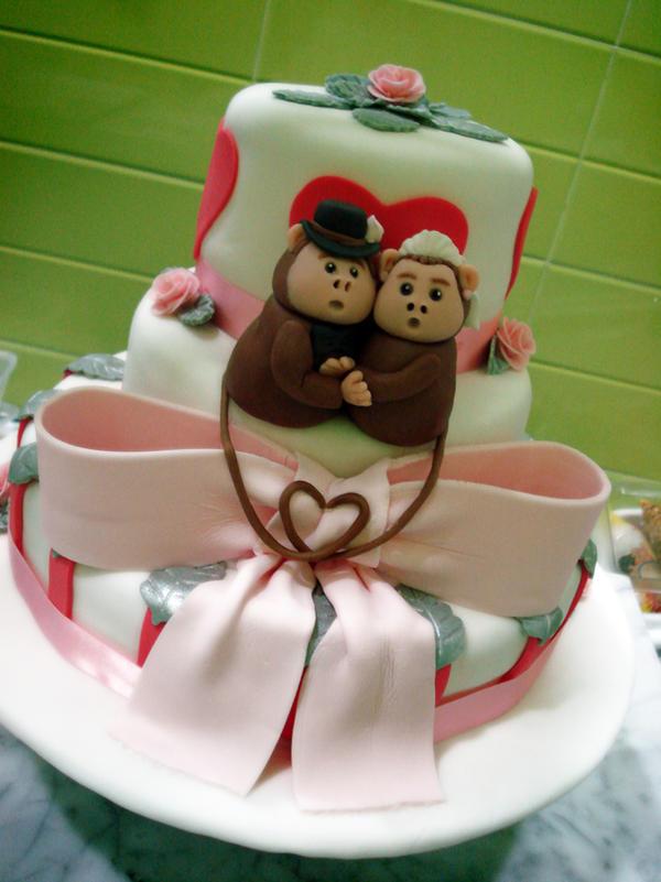 Monkey Wedding Cake