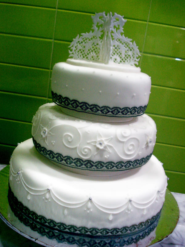 lace ribbon for wedding cake ribbons and lace wedding cake by sliceofcake on deviantart 16692