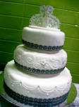Ribbons And Lace Wedding Cake