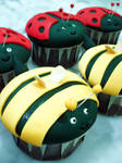 Bee And Ladybug Cupcakes