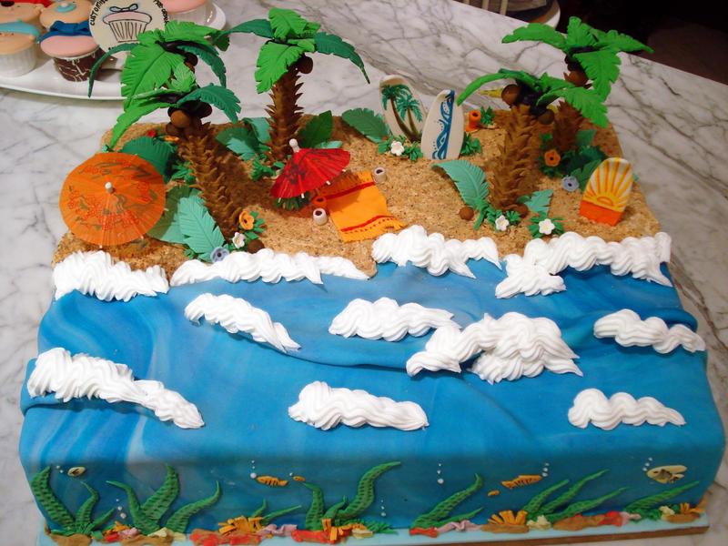 Tropical Beach Cake By Sliceofcake On Deviantart