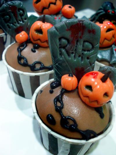 Tombstone Cupcakes by Sliceofcake
