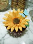 Sunflower Cupcake by Sliceofcake