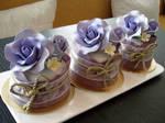 Violet Rose Mini Cakes