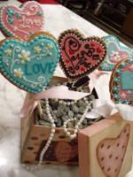 Valentine Cookie Pops by Sliceofcake