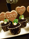 Valentine Cookie Cupcakes