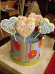 Wedding Cookie Pops by Sliceofcake