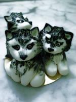Siberian Husky Pups by Sliceofcake