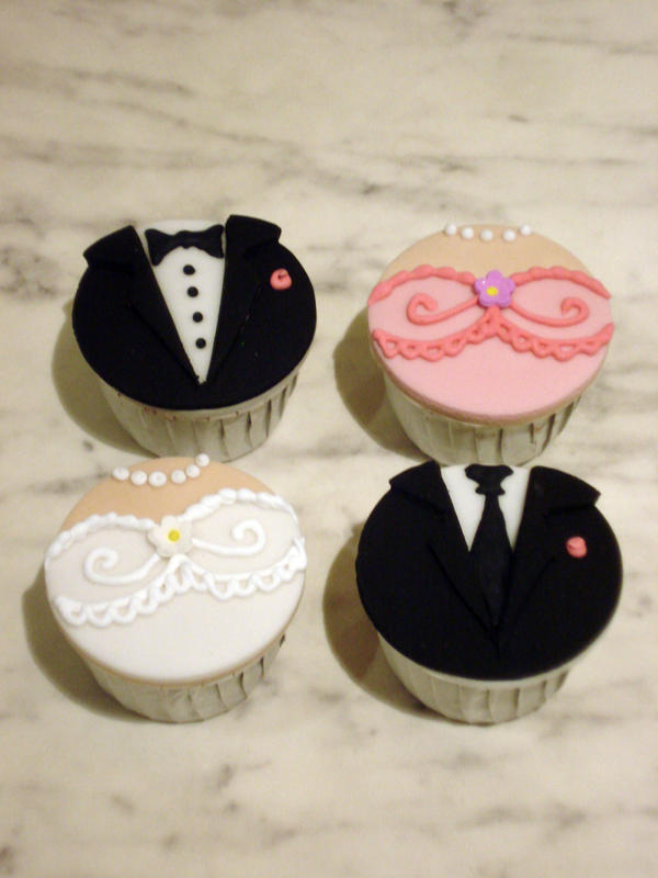 bridal party cupcakes by sliceofcake on deviantart