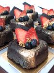 Rum Chocolate Fudge Squares