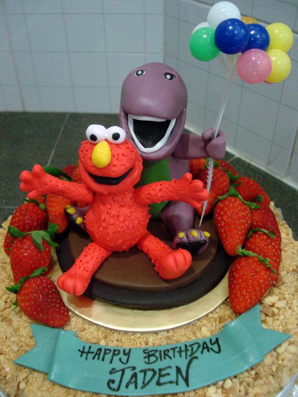 Elmo and barney by sliceofcake on deviantart for Elmo arts and crafts