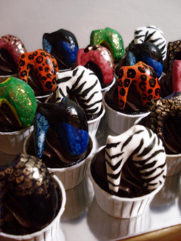 Gaga Armadillo Heels Cupcakes by Sliceofcake