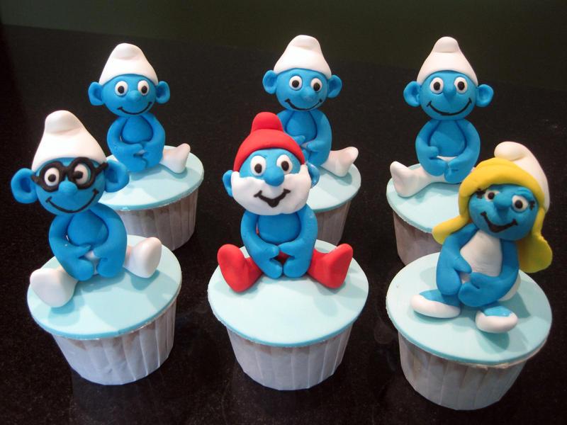 Smurf Cupcakes 2 by Sliceofcake