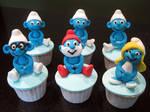 Smurf Cupcakes 2