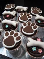 Doggie Cupcakes by Sliceofcake
